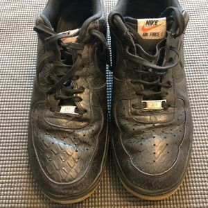 Nike Air Force 1 Size 11 black and brown bottom